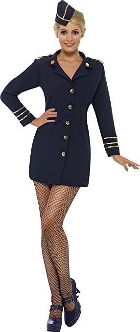 Smiffys - 28879 - Déguisement Femme pilote  sexy  - Taille S (36-38 EU)