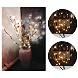 Warm LED Willow Branch Lamp, 20 Bulbs 30 Inches, Unpara Beautiful Floral Lights For Valentine's Day, Christmas, New Year, Parties, Birthday Parties, Wedding Ceremony, Dinner Party Decoration (Color: Yellow, Tamaño: 77cm/30Inches)
