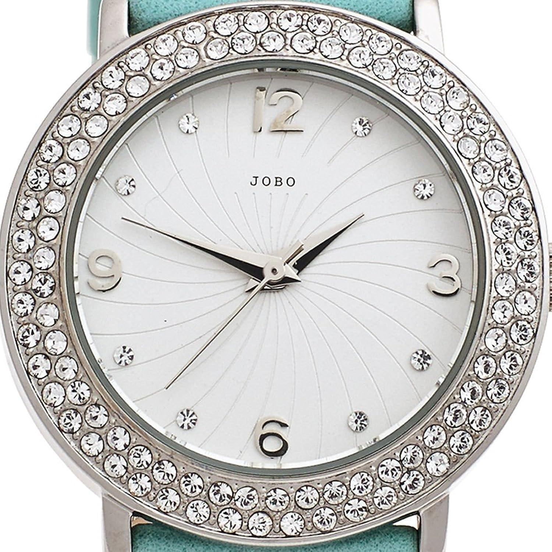 Damen-Armbanduhr türkis Quarz Analog Edelstahl Kristall-Elements kaufen