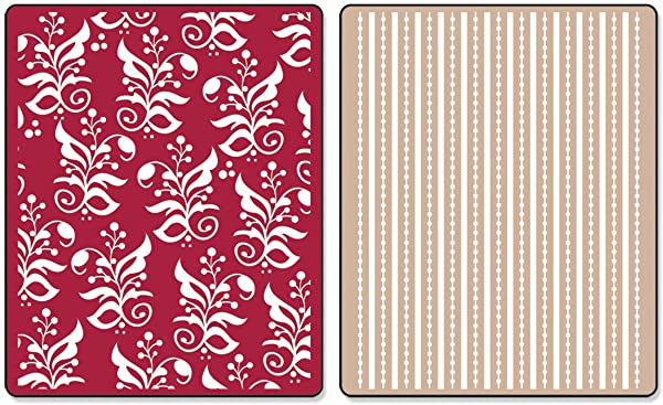 Sizzix 657137 Textured Impressions Embossing Folders, Botanicals & Beaded Ribbons Set by Rachael Bright, Pack of 2, Multicolor (Color: Botanicals/Beaded Ribbons, Tamaño: 2-Pack)