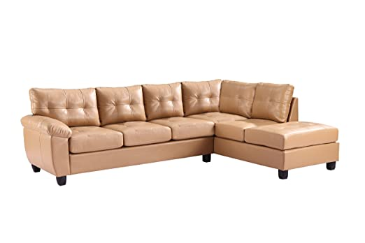 Glory Furniture G901B-SC Sectional Sofa, Tan, 2 boxes