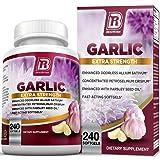 BRI Nutrition Odorless Garlic 1000mg Pure and Potent Garlic Allium Sativum Supplement (Maximum Strength) (240 Count) (Color: 240 Count, Tamaño: 240 Count)