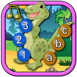 Kids Dinosaur Join and Connect the Dots Puzzles - Rex teaches the ABC numbers shapes and counting suitable for toddlers and young preschool children ages 2+ by Espace Pty Ltd
