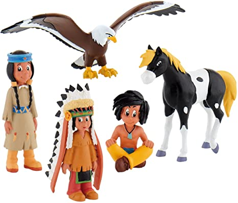 Bullyland Yakari - Set 5 Mini Figurines Grand Aigle Petit Tonnerre Arc en ciel