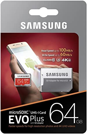 Samsung 64GB MicroSD EVO Plus Series 100MB/s (U3) Micro SDXC Memory Card with Adapter (MB-MC64GA) (15 Pack) (Tamaño: 15 Pack)