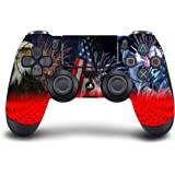 DreamController Custom PS4 Modded Controller - PS4 Controller Modded with PS4 Rapid Fire / PS4 Aimbot - Modded PS4 Controller Works with Playstation 4 / Playstation 4 Pro/Windows 10 PC or Laptop (Color: 4th-July, Tamaño: Modded)