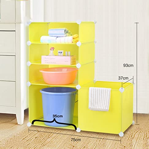 SENBUN Bathroom Floor Rack / Bagno Rack / Storage Rack / Multi-layer / Lavabo Mensola ( colore : Yellow L )