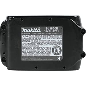 Makita BL1820B-2 18V Compact Lithium-Ion 2.0Ah Battery Twin Pack (Tamaño: 2.0Ah)