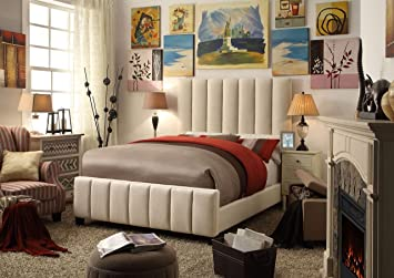 Millbury Home Isabel Beige Upholstery Bed