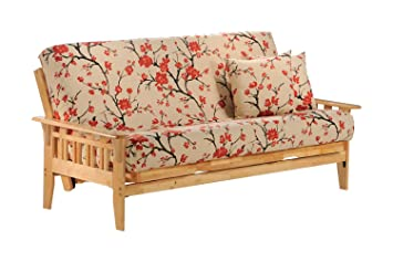 Kingston Twin Lounger Futon Frame in natural finish Furniture