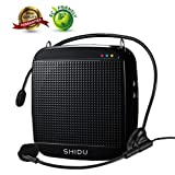 Voice Amplifier,SHIDU Mini Voice Amplifier with Wired Microphone Headset 18W Portable Personal Speaker MP3 Audio Sound System for Teachers,Elderly,Singing,Coaches,Yoga,Tour Guides,Outdoor Trainers (Color: Voice Amplifier Black, Tamaño: Voice Amplifier Mini)