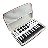 Hard Travel Case Bag for Akai Professional MPK Mini MKII | 25-Key Ultra-Portable USB MIDI Drum Pad & Keyboard Controller by AONKE