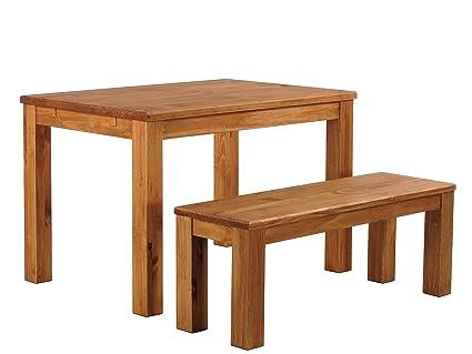 Brasilmöbel Esstisch Rio Classico 100x73 cm + Sitzbank Rio Classico Farbton Honig