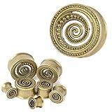 Lianrun 2pcs Retro Pattern Ear Tunnels Gold-colour Snail Ear Piercing Jewelry