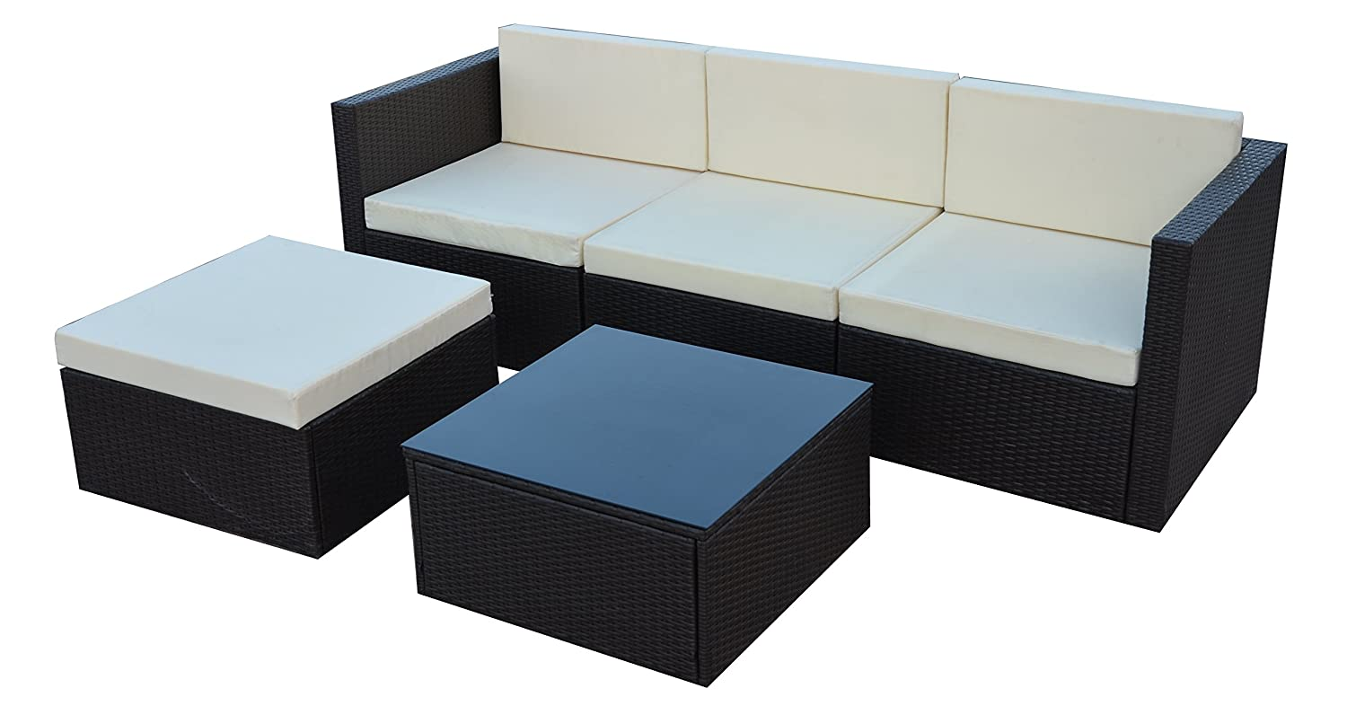 poly rattan gartenm bel gartengarnitur balkonm bel set. Black Bedroom Furniture Sets. Home Design Ideas