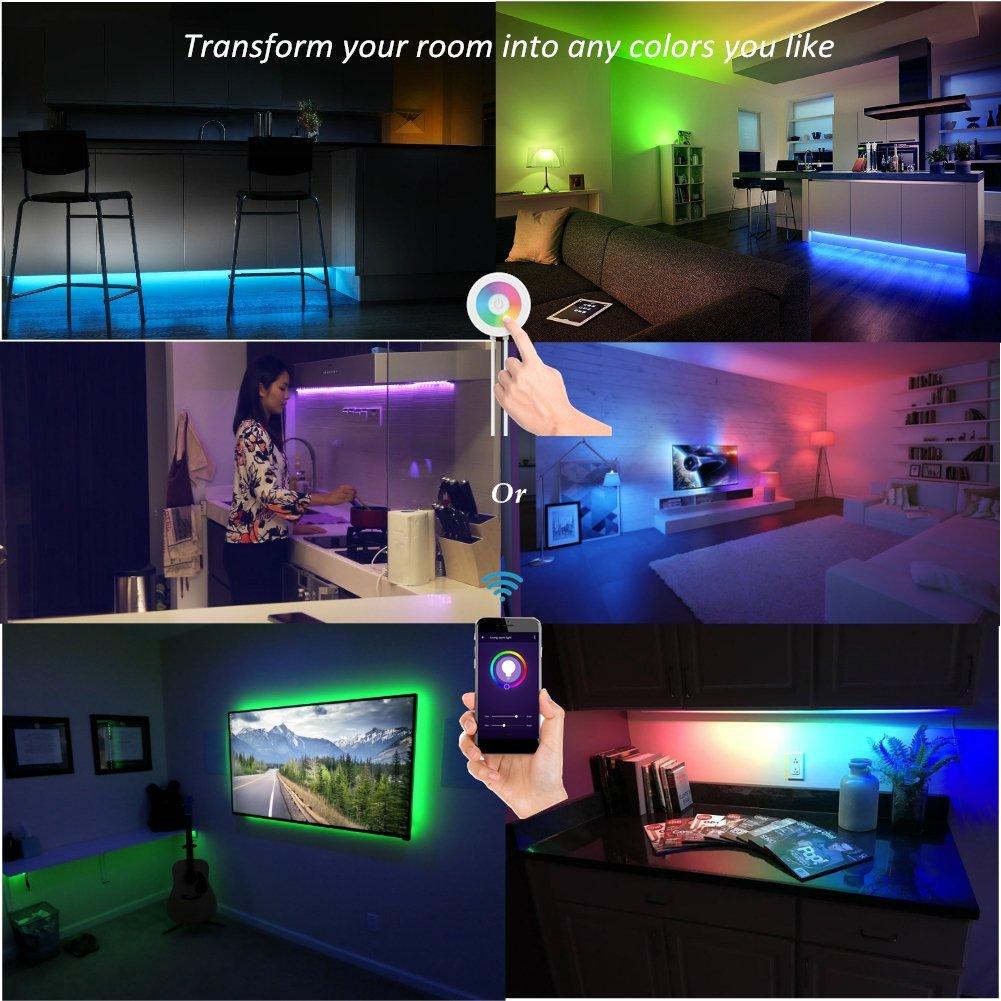 Lombex Smart Wifi LED Light Strip Color Changing RGB Light ...