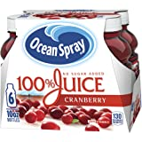 Ocean Spray 100% Juice, Cranberry, 10 Ounce Bottle (Pack of 6)