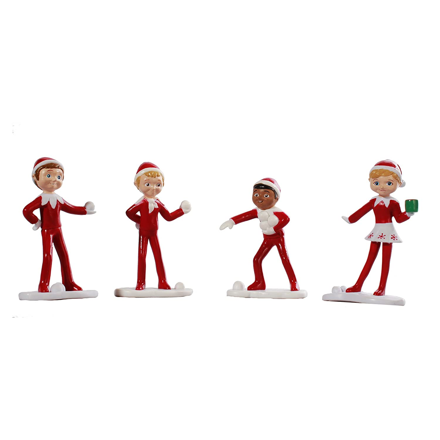 Elf on the Shelf: An Elf's Story Elf Figurines, Set of 4