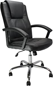 Eliza Tinsley High Back Black Leather Faced Executive Armchair with Alloy Base       Office ProductsCustomer reviews and more news
