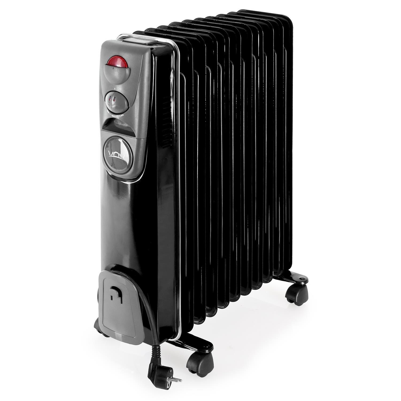<p>Radiador aceite &nbsp;negro de 2500W, termostato. 11 elementos</p>