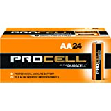 Duracell Procell PC1500 Alkaline-Manganese Dioxide Battery, AA Size, 1.5V, 24 Count (Tamaño: 24)