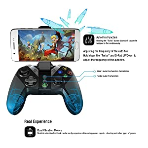GameSir G4s Bluetooth Wireless Gaming Controller for Android/Windows/VR (Renewed) (Color: G4s)