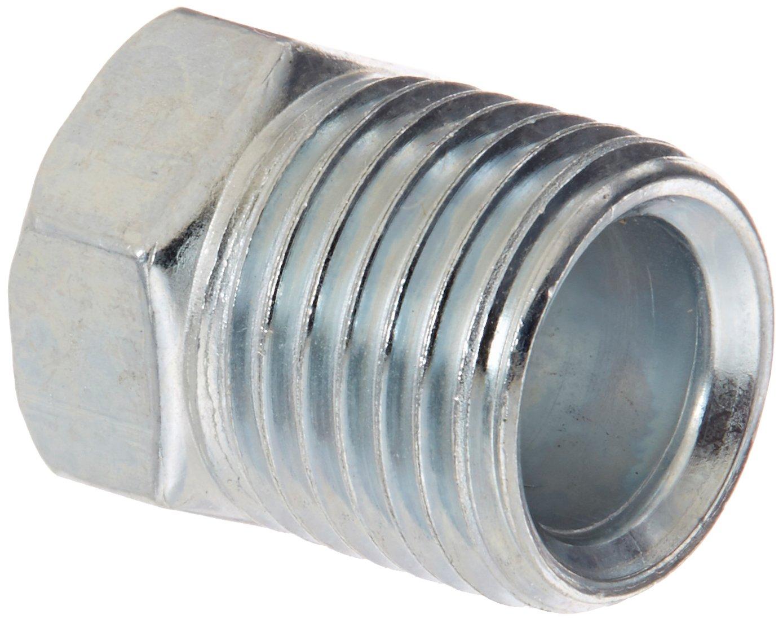 """Eaton Weatherhead 105X5 Steel Inverted Flare Brass Fitting, Nut, 5/16"""" Tube OD"""