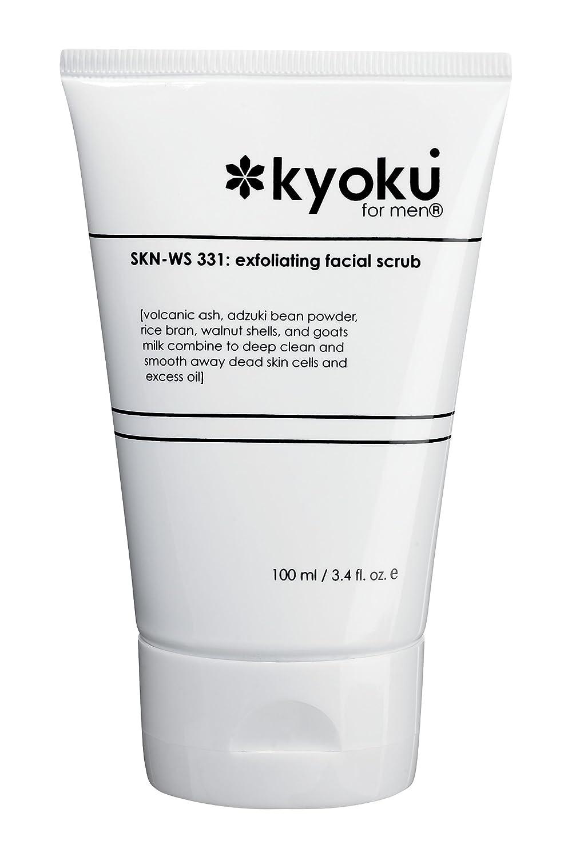 Kyoku for Men Exfoliating Facial Scrub, 3.4 Fluid Ounce
