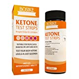 BOSIKE Ketone Test Strips 100ct Monitor Keto Ketosis Precise Urine Test Strips For Ketogentic Diet Weightloss And Diabetics