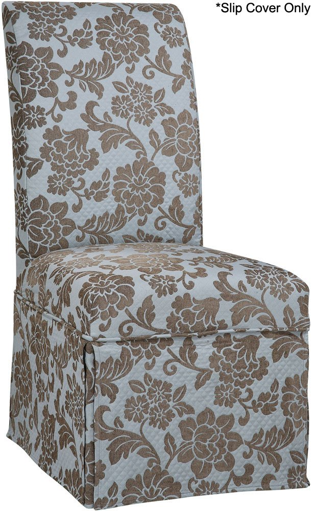 Powell Quilted Powder Blue with Raised Brown Chenille Flowers Skirted Slip Over, Fits 741-440 Chair quatro scott powell quatro scott powell quatro scott powell deluxe edition 2 lp