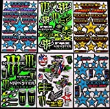 Advanc motocross stickers bmx pre cut sticker bomb pack metal rockstar