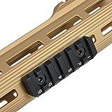Green Blob Outdoors KEYMOD & M-LOK Rail Section for handguards, 6 Slots Dual Interface KEYMOD & M-LOK Rail Section 64.8mm Long (Color: Black, Tamaño: 6 slot)