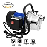 Meditool 1.6HP Shallow Well Pump Stainless Booster Pump Lawn Water Pump Electric Water Transfer Home Garden Irrigation 115V