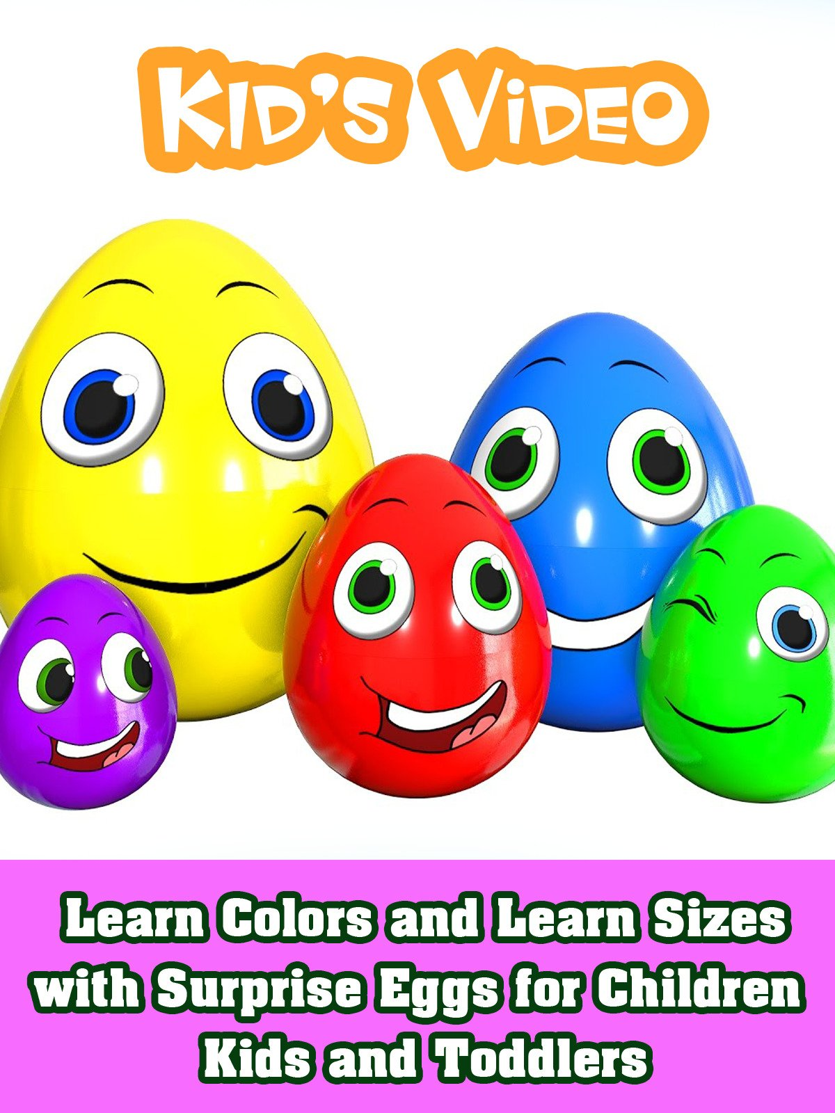 Learn Colors and Learn Sizes with Surprise Eggs for Children Kids and Toddlers on Amazon Prime Instant Video UK