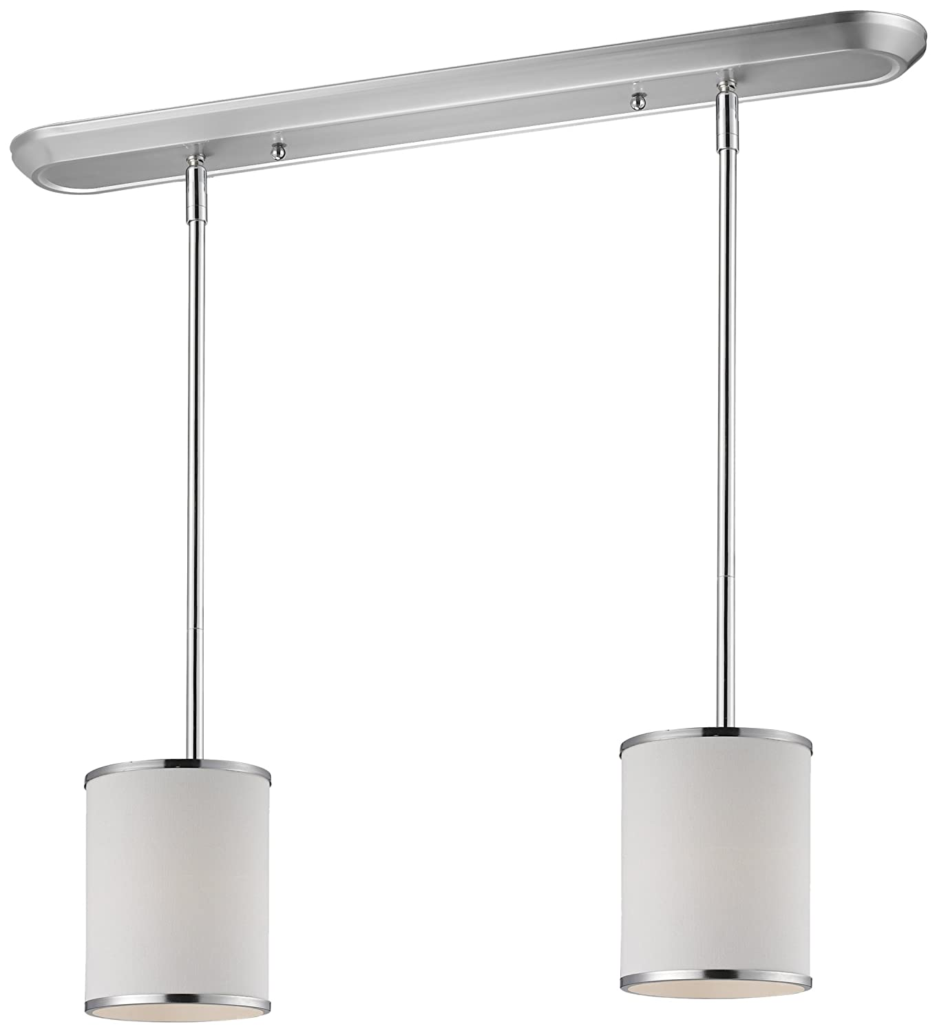 Whitfield CH0028-6PSS Lindsey 5-Inch One-Light Pendant Satin Steel with Alabaster Glass