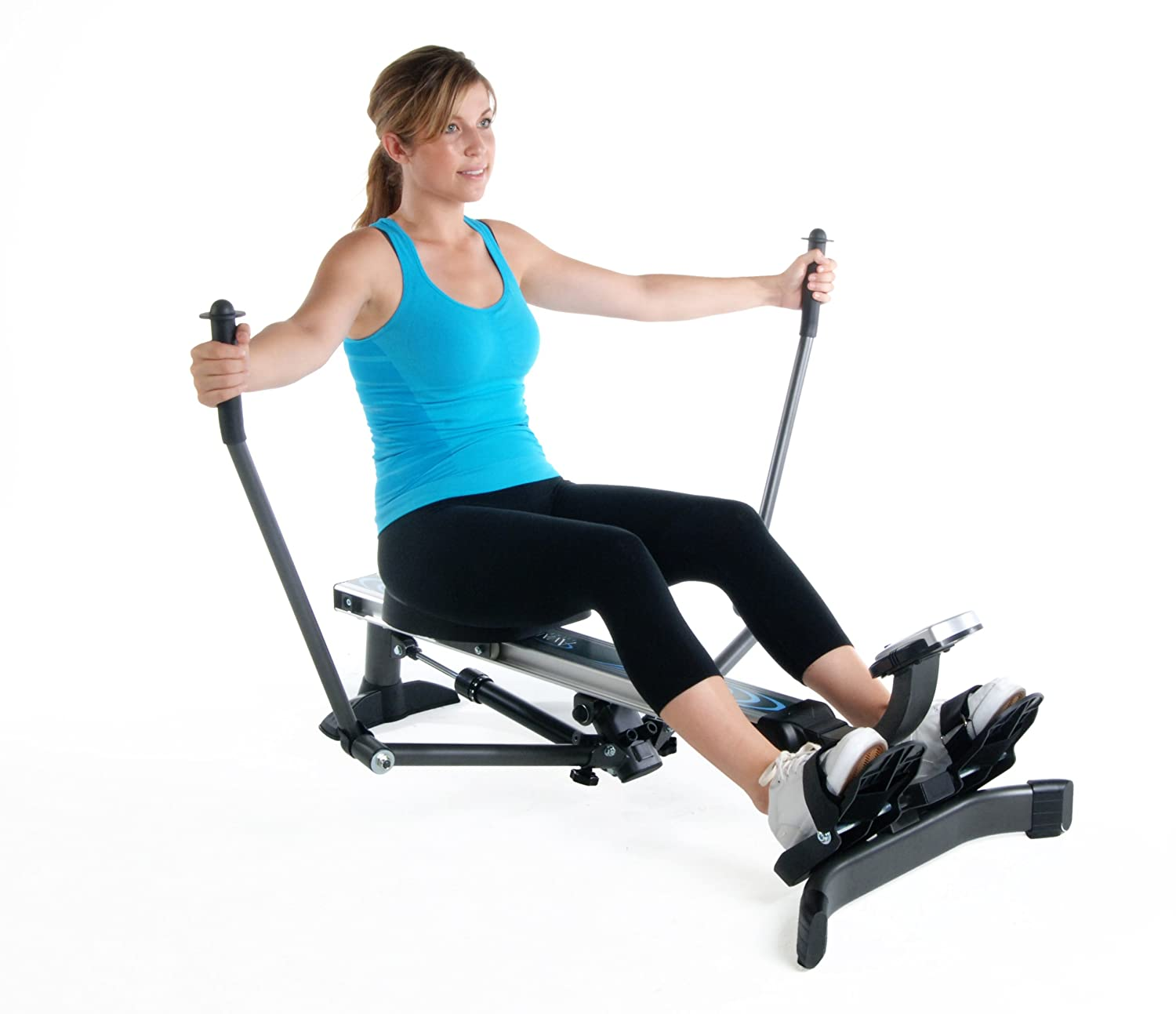 Exercise on a rowing machine