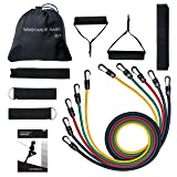 Mpow G-2 Resistance Bands Set with Upgraded Band Guard & Stable Hooks, Elastic Exercise Bands for Losing Body, Strengthening, Shaping Body, Rehabilitative Exercises, Workout Bands for Home and Gym (Color: 1.Multicolor, Tamaño: 47 Inch)