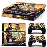 New Grand Theft Auto V Game GTA 5 Protective Decor Skin Sticker for SONY Playstation 4 Decal Stickers for PS 4 PS4 1 Console Skin and 2 Controller skin Stickers
