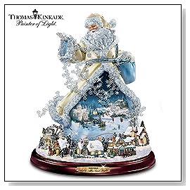 Thomas Kinkade Moving Santa Claus Tabletop Figurine