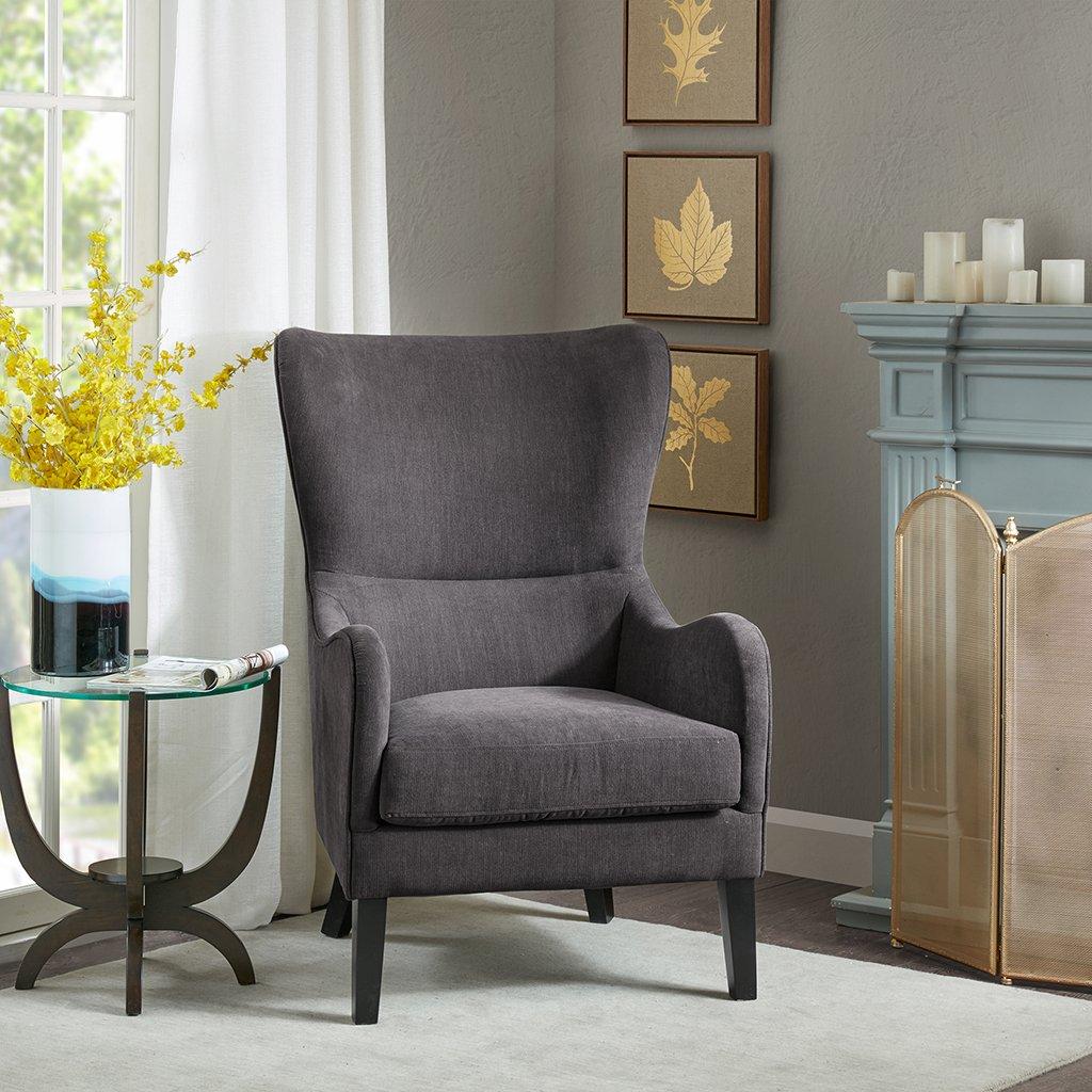 Arianna Swoop Wing Chair Dark Grey See below