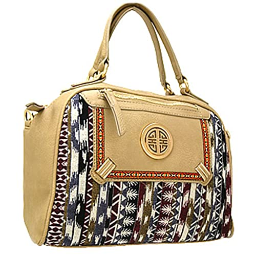 Trendy Aztec Print Handbag Purse w/ Detachable Shoulder Strap