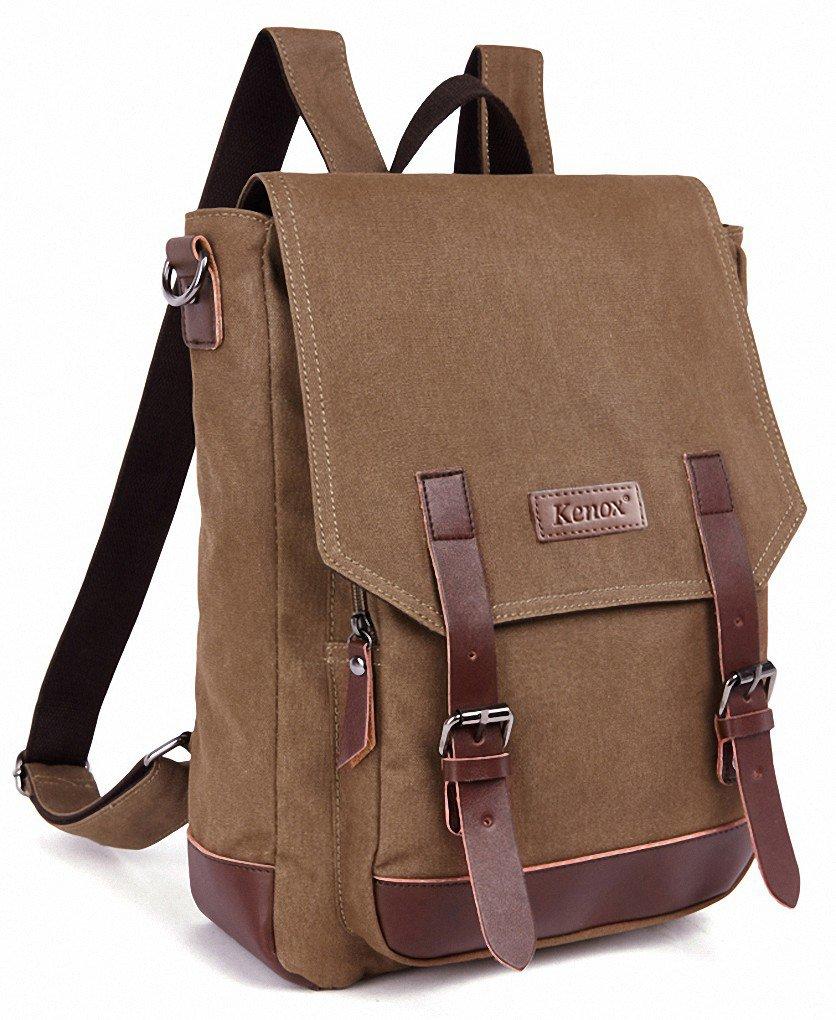 Kenox Vintage High School Canvas Backpack School Bag Travel Bag Laptop Bag 0