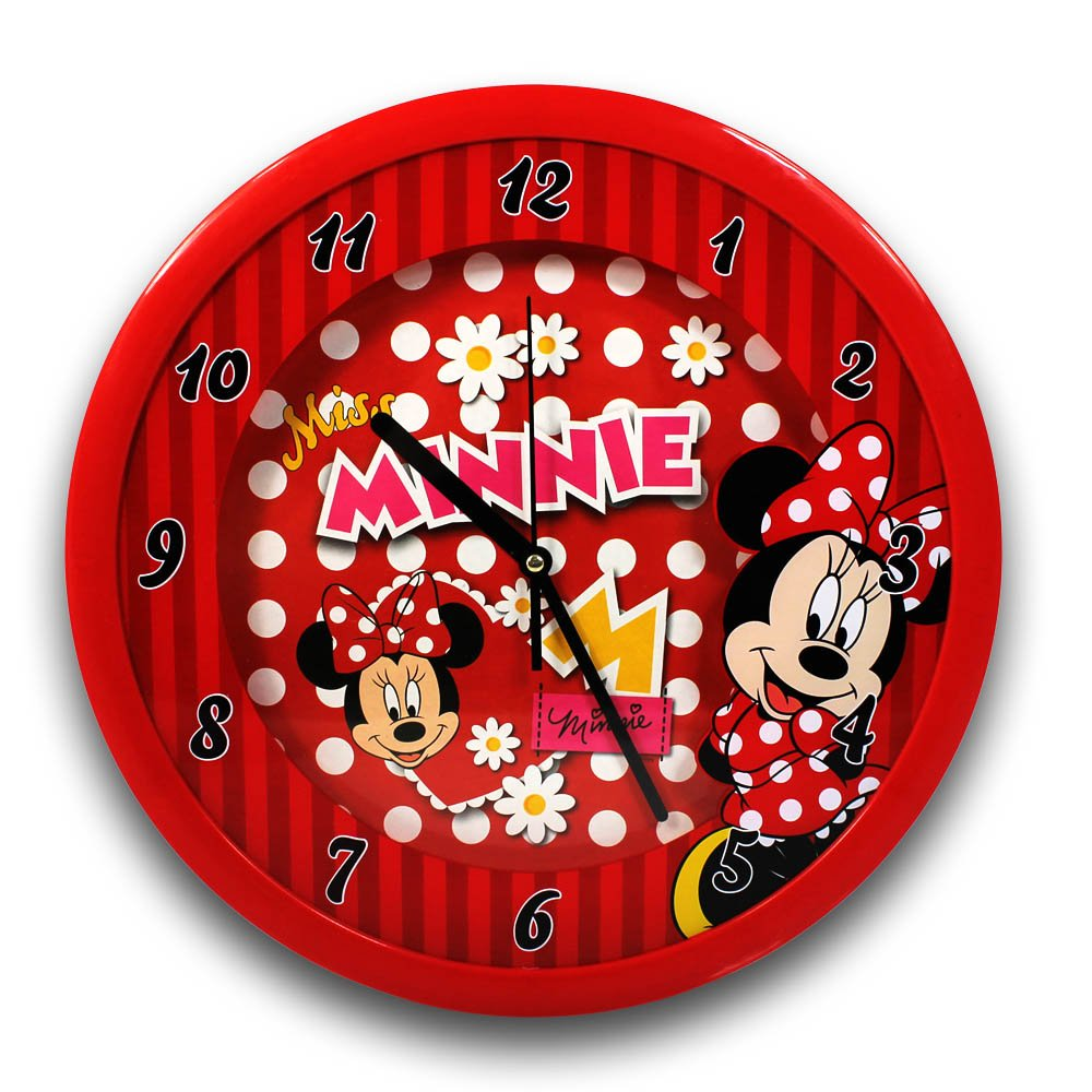 Wanduhr XL Minnie Mouse mit Farbauswahl – Uhr – Kinderuhr (rot) online kaufen