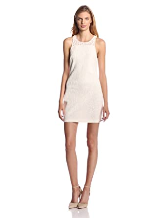 Addison Women's Nolton Cotton Lace Shift Dress, White, Medium