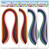 JUYA Metallic Paper Quilling 24 Mixed Colors Set 2/3/5/7/10mm Width Available (2x24 Colors, Paper Width 2mm) (Color: 2x24 colors, Tamaño: Paper Width:2mm)