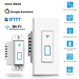 Wireless Light Switch, Works with Alexa In Wall Light Switch Mobile Phone APP Remote Alexa Control Sensitive Touch Wireless Wall Switch (Arvin Smart Light Switch)