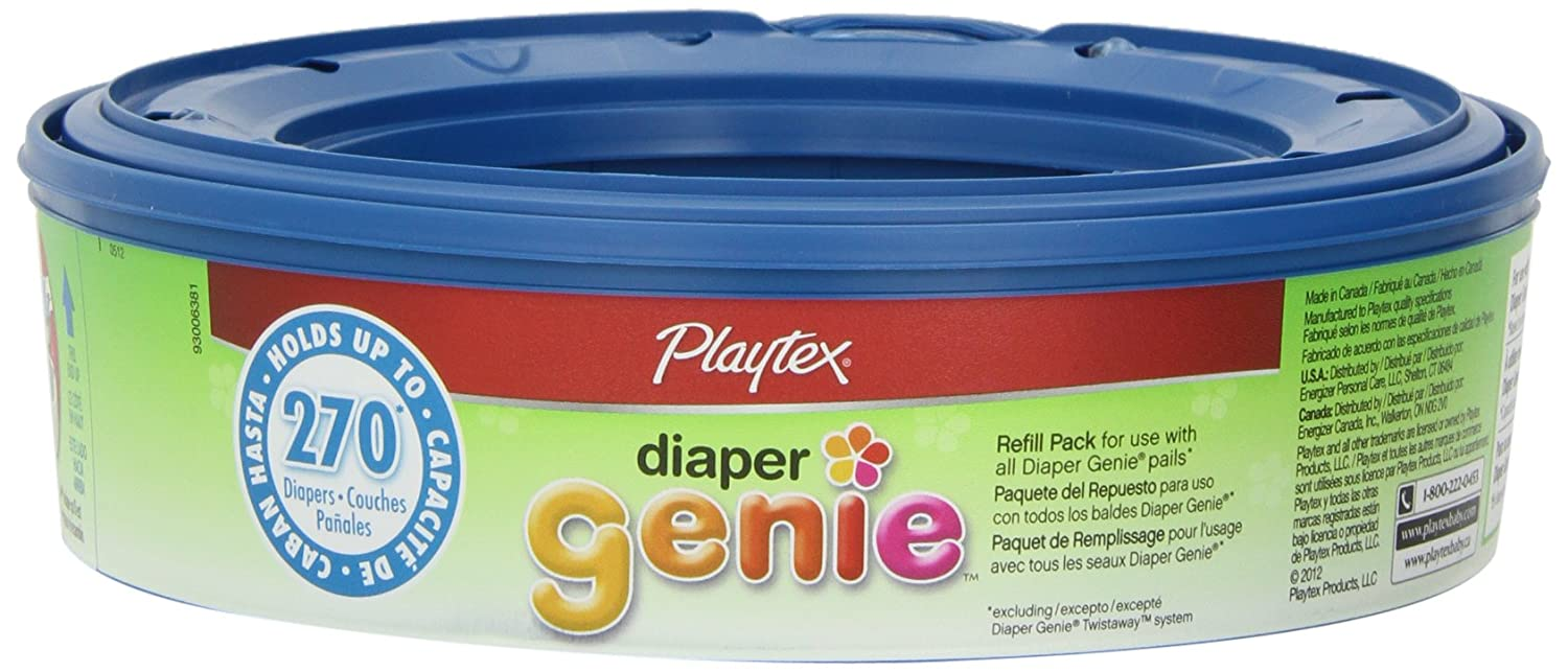 Playtex Diaper Genie Refill 270 count pack of 3