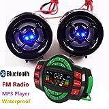 USB Bluetooth Waterproof Motorcycle Audio Radio Sound System Stereo Speakers MP3