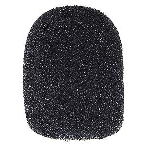 Wode Shop 15 Pack Foam Microphone Windscreen, Headset Microphone Sponge Foam Cover Shield Protection (Black)