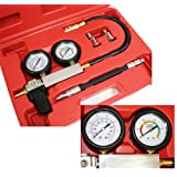 Engine Cylinder Leakdown Tester Dual Gauge Diagnostic Kit for Imports Domestic